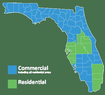 Nvirotect Pest Control Map - Serving Residential Pest Control Services to Broward, Hillsborough, Lake, Manatee, Miami-Dade, Osceola, Orange, Palm Beach, Pasco, Pinellas, Polk, Seminole & Sarasota counties. Lawn & Shrub - Residential/Commercial | Hillsborough | Pasco | Pinellas |
